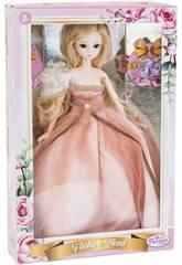 Poupée Style Japonais 29 cm. Robe de Mariée Rose