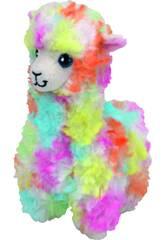 Lama en Peluche Multicolore Lola 23 cm TY 36989TY