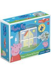 Geomag Magicube Peppa Pig Casa y Jardín Toy Partner 50
