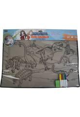 Teppich zun anmalen Dinosaurier