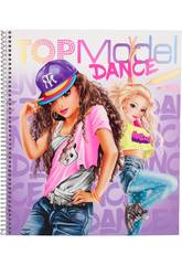 TopModel Quaderno da Colorare Dance 10959