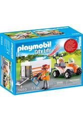 Playmobil Quad de Resgate com Reboque 70053
