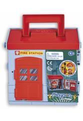 Pinypon Action Mixópolis Estación de Bomberos con Figura Bombero Famosa 700015585