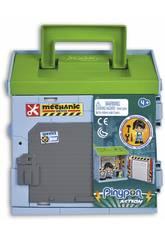 Pinypon Action Mixópolis Atelier Mécanique avec Figurine de Mécanicien Famosa 700015585