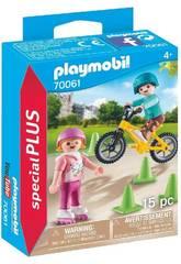 Playmobil Niños con Bici y Patines 70061