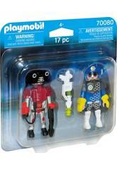Playmobil Duopack Polizia Spaziale e Ladro 70080