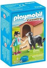 Playmobil Perro con Casita Playmobil 70136