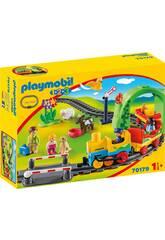 Playmobil 1,2,3 Meu Primeiro Comboio Playmobil 70179