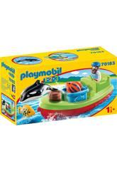 Playmobil 1,2,3 Pêcheur avec Bateau Playmobil 70183