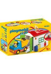 Playmobil 1,2,3 Camion con Garage Playmobil 70184