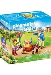 Playmobil Oma mit Mädchen 70194