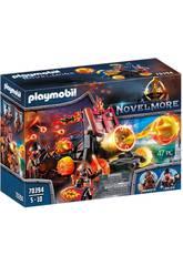 Playmobil Novelmore Catapulta de Lava dos Bandidos de Burnham 70394