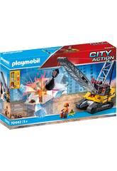 Playmobil Grua Demolición Oruga 70442