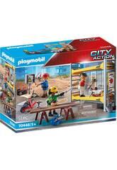 Playmobil-Gerüst mit Arbeitern 70446