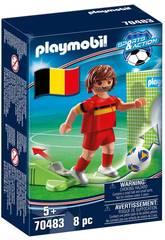 Playmobil Jogador de Futebol Bélgica 70483