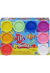 PlayDoh Pack 8 Botes Arcoíris Hasbro E5062