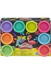 PlayDoh Pack 8 Botes Neón Hasbro E5063