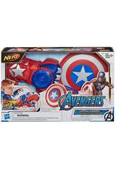 Avengers Nerf Power Moves Lance Bouclier Captain America Hasbro E7375
