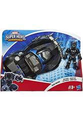 Avengers Super Hero Adventures Black Panther com Road Racer Hasbro E6256