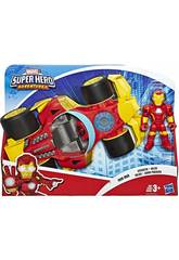Avengers Super Hero Adventures Iron Man con Bolide Hasbro E6257