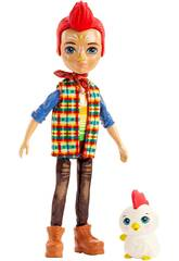 Enchantimals Pupazzo Redward Rooster con Gallo Cluck Mattel GJX39