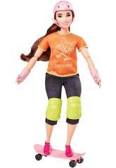 Barbie Olimpiadi Skateboarder Mattel GJL78