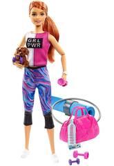 Barbie Bem-Estar Ginásio com Cão e Acessórios Mattel GJG57