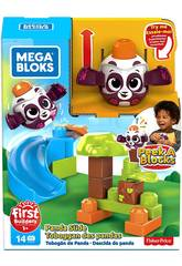Mega Bloks Panda Lanza y Rueda De Peek a Block Mattel GKX68
