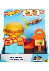 Hot Wheels City Downtown Hamburguesería Mattel GJK73