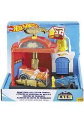 Hot Wheels City Downtown Caserne de Pompiers Au Secours Mattel FMY96