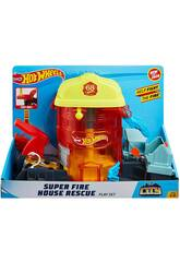 Hot Wheels City Súper Estación de Bomberos de Rescate Mattel GJL06
