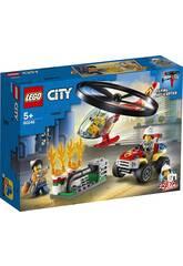 Lego City Fire Intervention de l'Helicoptère des Pompiers 60248