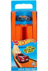 Hot Wheels Pista Recta con Coche Mattel BHT77