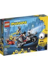 Lego Minions Persecución en la Moto Imparable 75549