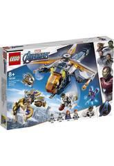 Lego Súper Héroes Vengadores Rescate en el Helicóptero de Hulk 76144