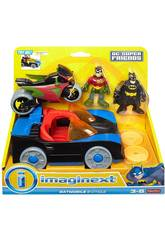 Imaginext Batmóvil y Moto DC Superfriends Mattel CGL38