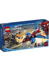 Lego Super-heróis Jet Aracnídeo VS. Armadura Robótica de Venom 76150