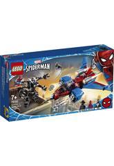 Lego Super Heroes Jet Arachnide contre Armure Robotisée de Venom 76150