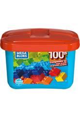 Mega Bloks Blauer Würfel 100 Stücke Mattel GJD21