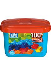 Mega Bloks Cubo Azul 100 Peças Mattel GJD21