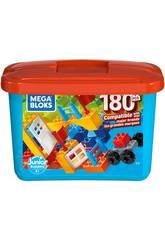 Mega Blöcke Blauer Würfel 180 Stücke Mattel GJD22