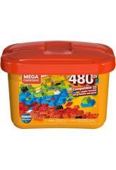 Mega Construx Builders Cubo Laranja 480 Peças Mattel GJD23