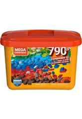 Mega Construx Builders Cubo Arancione 790 Pezzi Mattel GJD24
