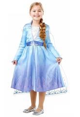 Disfraz Niña Frozen 2 Elsa Travel Classic Talla XL Rubies 300284-XL
