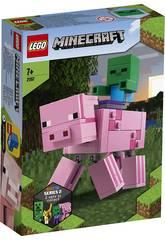 Lego Minecraft Big Fit Porco com Bebé Zumbi 21157