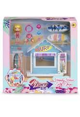 Mimy City Set Negozio Di Surf Con Figura Wendy Wave Famosa 700015596