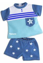 Nenuco Vestitini Casual 35 cm.Completo Blu Famosa 700013822