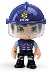 Pin y Pon Action Figura Emergencia Policía Antidisturbios Famosa 700014491