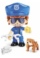 Pinypon Action Figur Polizei mit Bulldogge von Famosa 700015151