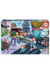 Puzzle 100 En Ville Educa 18605